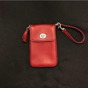 *New in Box* Coach Red Phone/Wallet Wristlet
